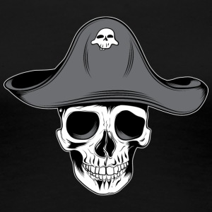skull_pirate_with_aht - Women's Premium T-Shirt