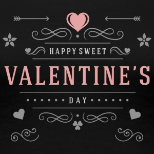 Happy Sweet Valentines Day - Women's Premium T-Shirt