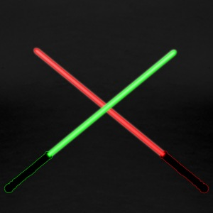 Red and Green Lightsaber Clash - Women's Premium T-Shirt