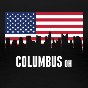 American Flag Columbus Skyline - Women's Premium T-Shirt