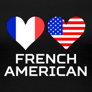 French American Hearts - Women's Premium T-Shirt