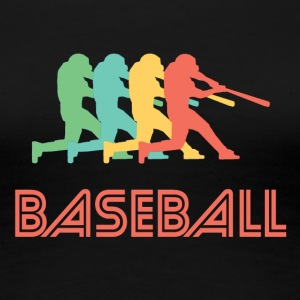 Baseball Batter Pop Art - Women's Premium T-Shirt