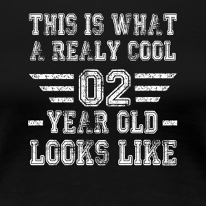 This is what a really cool 02 year old looks like - Women's Premium T-Shirt