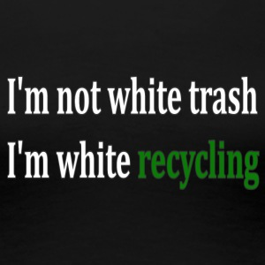 white_recycling - Women's Premium T-Shirt