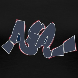 aja_graffiti_dark - Women's Premium T-Shirt