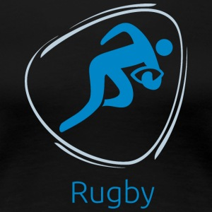 Rugby_blue - Women's Premium T-Shirt