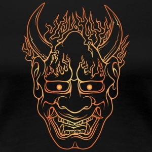 demon_with_burning_hairs_gold - Women's Premium T-Shirt