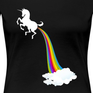 Unicorn Farting Rainbow - Women's Premium T-Shirt