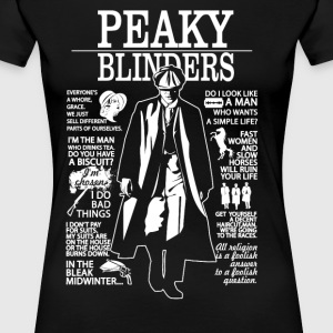 Tommy Shelby Quotes. Peaky Blinders. - Women's Premium T-Shirt