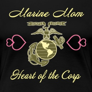 Proud Mom of a US Marines - Women's Premium T-Shirt