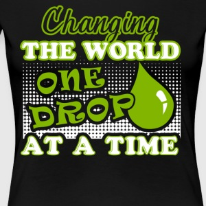 Essential Oils Changing The Word One Drop A Time - Women's Premium T-Shirt