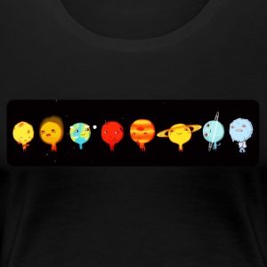 Cute planets comic - Women's Premium T-Shirt