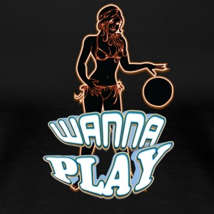 WANNA_PLAY_WITH_SEXY_GIRL_yellow - Women's Premium T-Shirt