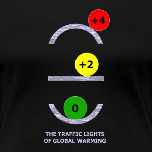 TRAFFIC LIGHTS OF GLOBAL WARMING - Women's Premium T-Shirt