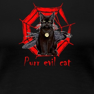 Purr evil cat - Women's Premium T-Shirt
