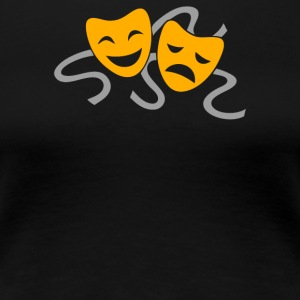 Theatre Drama Masks - Women's Premium T-Shirt