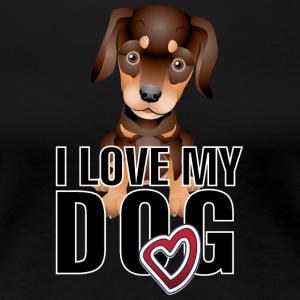 I_love_my_dog_2_black - Women's Premium T-Shirt