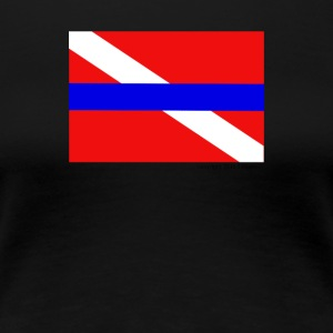 Blue Line Dive Flag - Women's Premium T-Shirt
