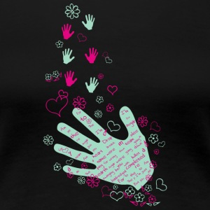 Hands and flowers - Women's Premium T-Shirt