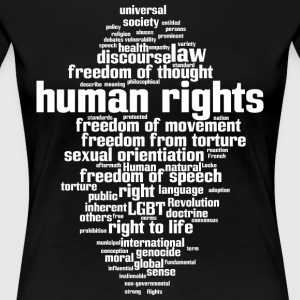 human rights - Women's Premium T-Shirt