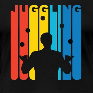 Vintage Juggling Graphic - Women's Premium T-Shirt