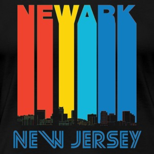 Retro Newark New Jersey Skyline - Women's Premium T-Shirt