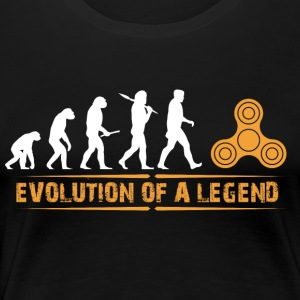 Fidget Spinner - Evolution of a Legend - Women's Premium T-Shirt