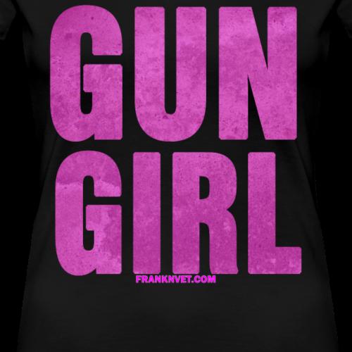 Gun Girl Pink Texture - Women's Premium T-Shirt