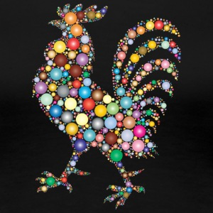 Colorful Rooster - Women's Premium T-Shirt