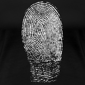Fingerprint in White - Women's Premium T-Shirt