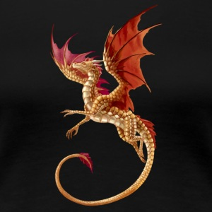 flying golden dragon - Women's Premium T-Shirt