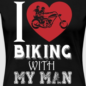 I Love Biking With My Man T Shirt - Women's Premium T-Shirt