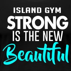 Strong is Baeutiful color IG - Women's Premium T-Shirt