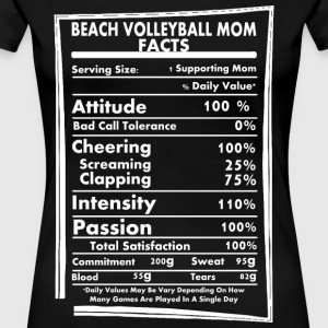 Beach Volleyball Mom Facts Daily Values Maybe Vary - Women's Premium T-Shirt