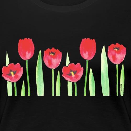 Watercolor Tulips - Women's Premium T-Shirt