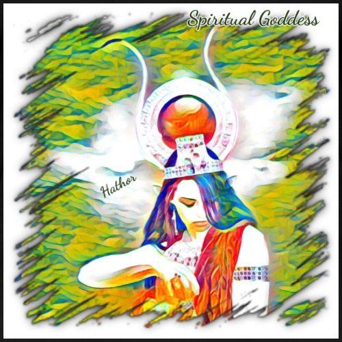 Spiritual Goddess Hathor - Women's Premium T-Shirt