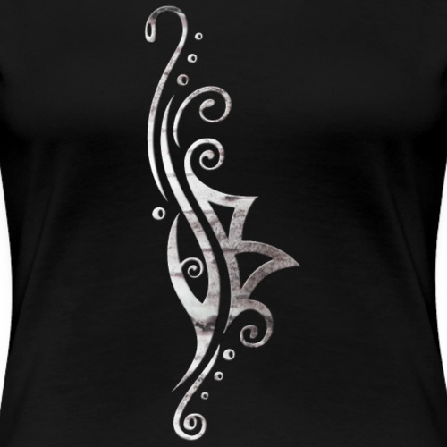 Berkana Rune in Tribal Tattoo Style - Women's Premium T-Shirt