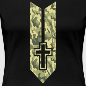 Camo Cross - Women's Premium T-Shirt