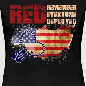 Red Friday Flag Shirt - Women's Premium T-Shirt