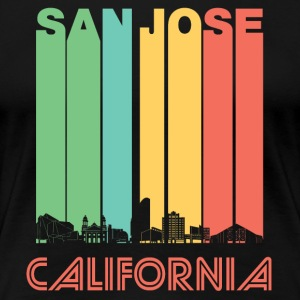 Retro San Jose California Skyline - Women's Premium T-Shirt
