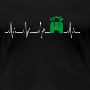 Heartbeat Traktor green - Women's Premium T-Shirt