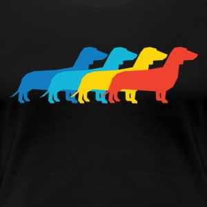 Dachshund Pop Art - Women's Premium T-Shirt