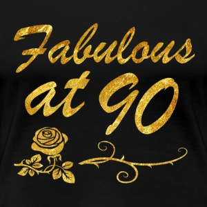 Fabulous at 90 years - Women's Premium T-Shirt