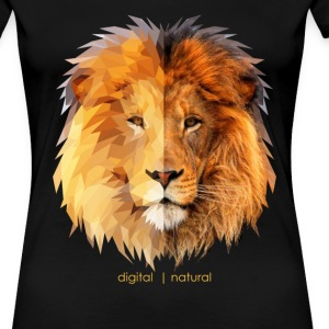 polygonal lion & natural - Women's Premium T-Shirt