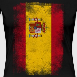 Spain Flag Proud Spanish Vintage Distressed Shirt - Women's Premium T-Shirt