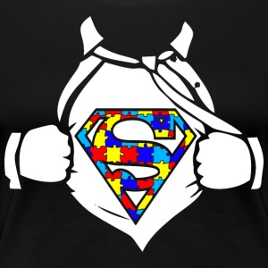 Autism Superhero Awareness - Women's Premium T-Shirt