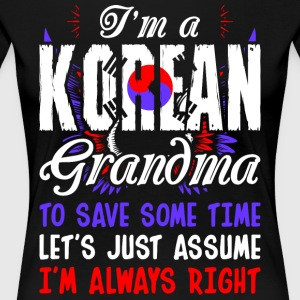 Im A Korean Grandma - Women's Premium T-Shirt