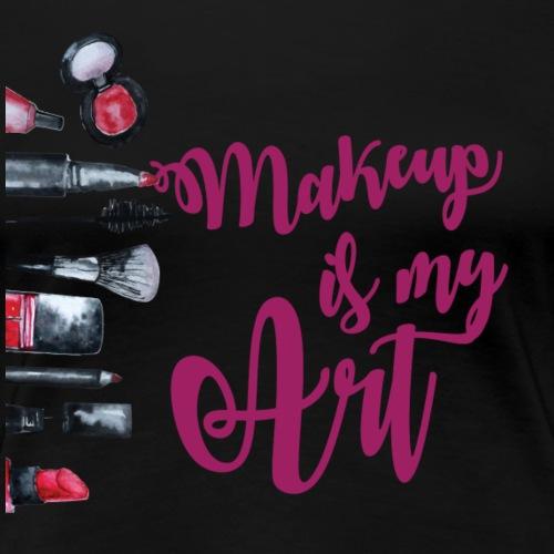 makeup is my art purple - Women's Premium T-Shirt