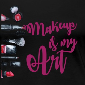 makeup is my art purple - Women's Premium T-Shirt