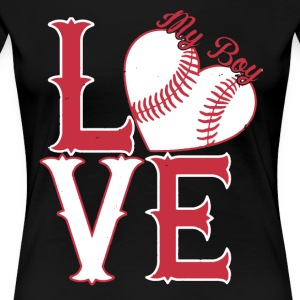 I Love My Softball Boy Shirt - Women's Premium T-Shirt
